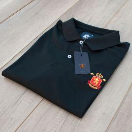 Polo caballero España Negro · Equipo Nacional