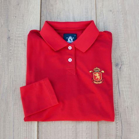 Polo dama España Rojo manga larga · Equipo Nacional