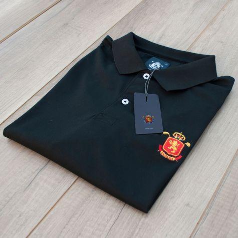 Polo niño España Negro · Equipo Nacional