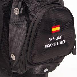 Bolsa RFEG Trípode Negra Personalizada con NOMBRE y BANDERA