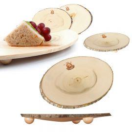 Set Platos aperitivo/postre de madera · Edición Limitada