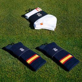 Pack 3 pares Calcetines Equipo Nacional ESP · Cortos (blanco)  y Largos (marino)