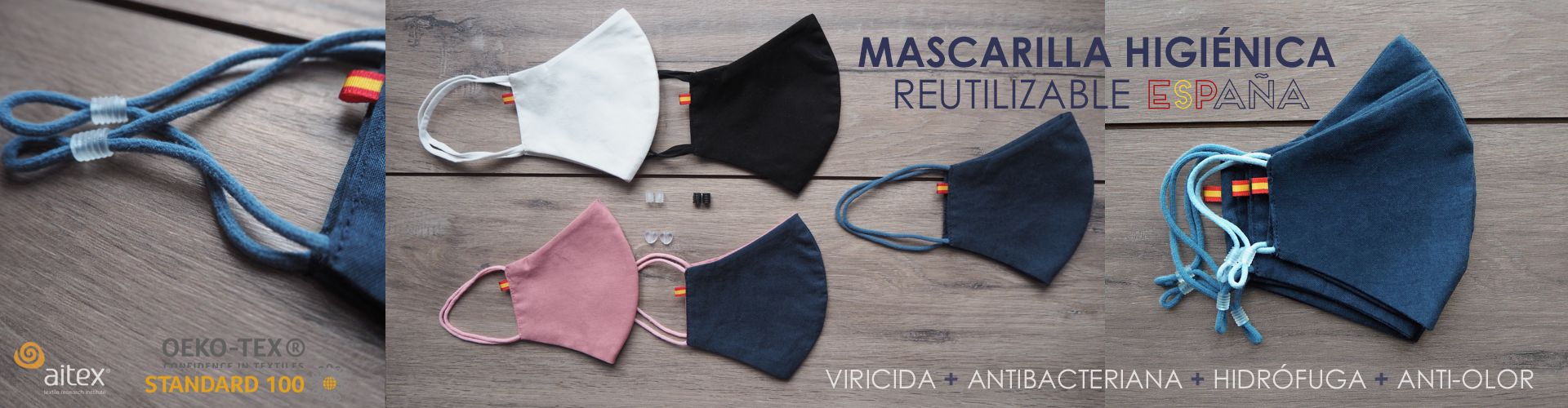 Mascarilla Higiénica ESPAÑA Reutilizable 30 lavados